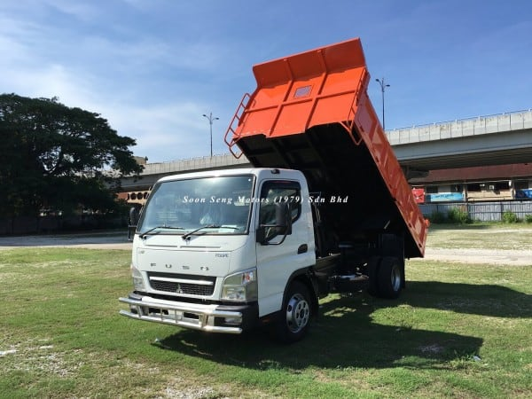 Fuso FE85PE-Steel Tipper Truck new orange