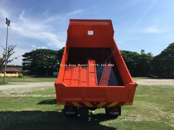 Fuso FE85PE-Steel Tipper Truck back view