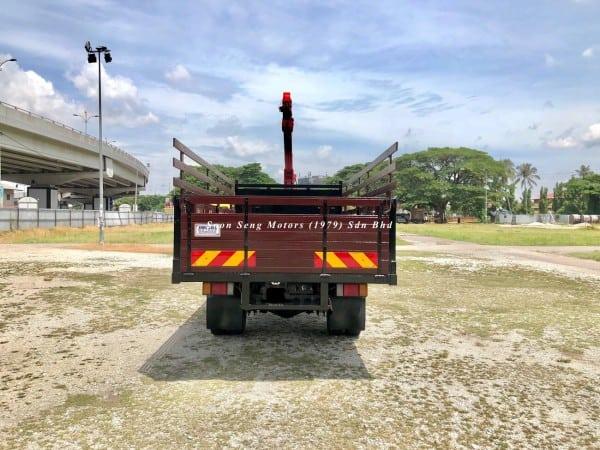Isuzu Crane Truck_Unic V340 Crane back view