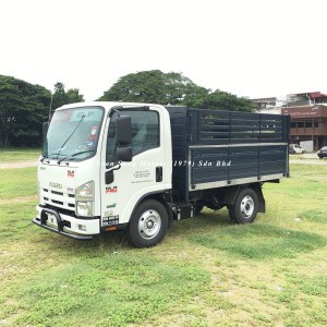 Isuzu NLR77UEE_wooden cargo 10 feet side
