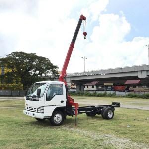 Isuzu NPR66P Crane Truck-Tadano TM20-ZH white