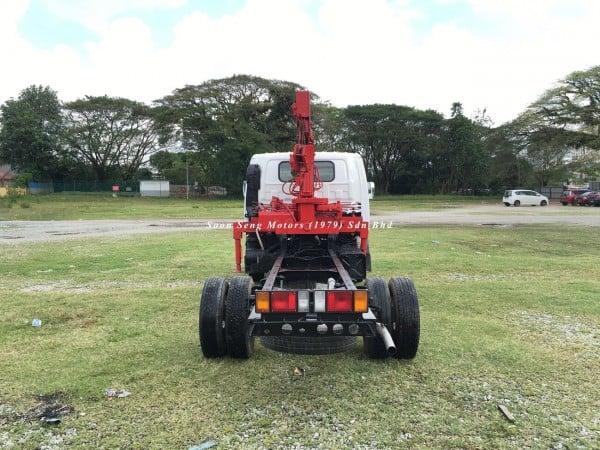 Isuzu NPR66P Crane Truck-Tadano TM20-ZH back view