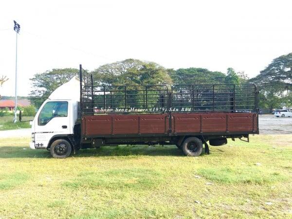 Isuzu NPR66P_Wooden Cargo 20 feet