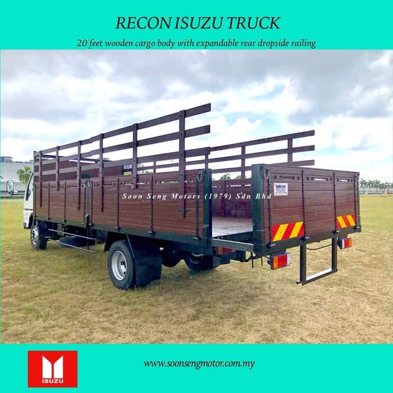 extendable rear wooden door for wooden cargo body