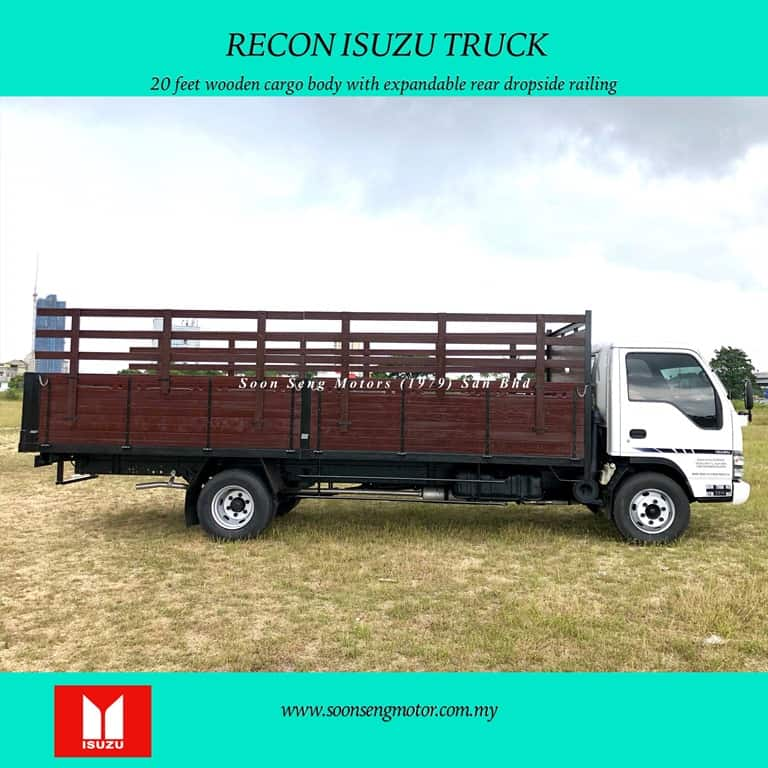truck with 20 feet long wooden worgo type body