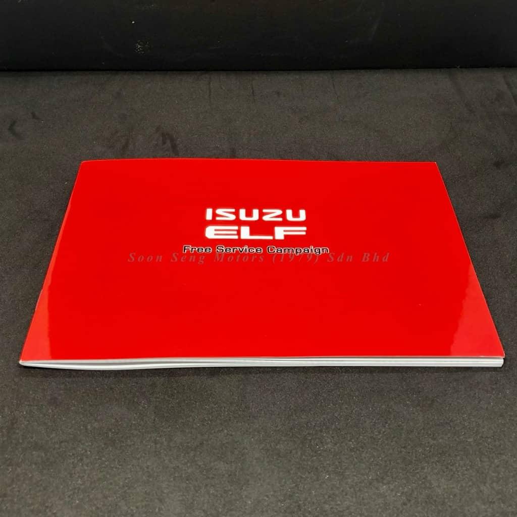 Isuzu free service campaign booklet