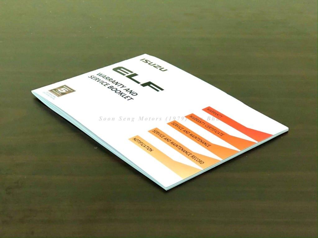 Isuzu ELF Truck Warranty Booklet